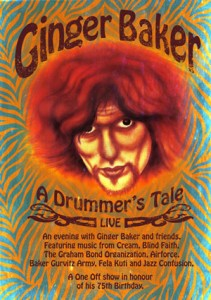 Ginger Baker's one-ff gig May 3