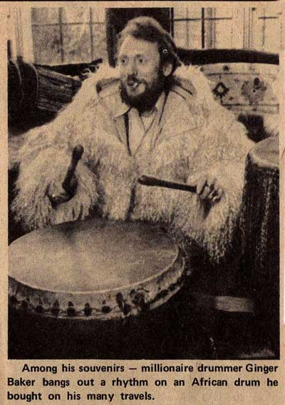 Ginger Baker at Home in Harrow