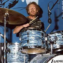 Ginger plays Ludwig drums