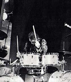Ginger Baker on drums