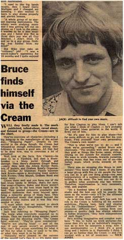 Bruce finds himself via the Cream